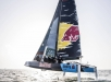 Red Bull Sailing Team on their GC32 hydro-foiling catamaran during the official training of the first act of the Extreme Sailing Series in Muscat, Oman on March 13, 2018 // Dean Treml/Red Bull Content Pool // AP-1V1SXCXG52111 // Usage for editorial use only // Please go to www.redbullcontentpool.com for further information. //
