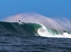 Dougal Paterson sat so deep he was almost surfing The Slab. Photo AVG