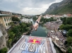 Andy Jones of the USA dives from the 27 metre platform on Stari Most during the final competition day of the sixth stop of the Red Bull Cliff Diving World Series in Mostar, Bosnia and Herzegovina on August 24, 2019. // Romina Amato/Red Bull Content Pool // AP-21BZJ1GYH2111 // Usage for editorial use only //
