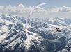 Participant flies during the Red Bull X-Alps preparations in Mayrhofen, Austria on june 03, 2019
