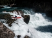 Nouria Newman is seenon the first rapid of the Rio Blanco, In Patagonia, Chile on February 2, 2019.